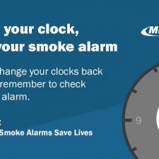 Change clock, check smoke alarm 2020